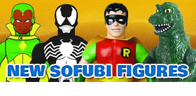 NEW GODZILLA, MARVEL & DC SOFUBI FIGURES