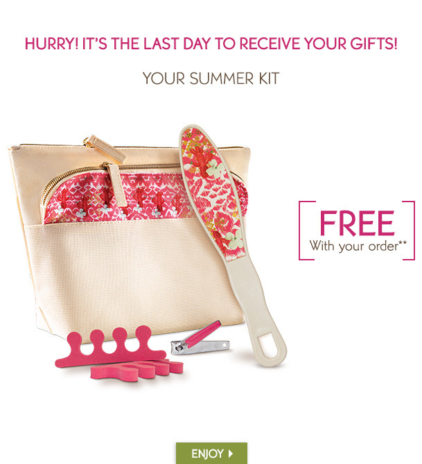 HURRY! IT'S THE LAST DAY TO RECEIVE YOUR GIFTS!