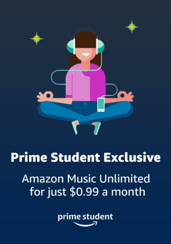 Amazon Introduces New, Exclusive Prime Student Benefit: Amazon Music Unlimited for Just $0.99 (Graphic: Business Wire)
