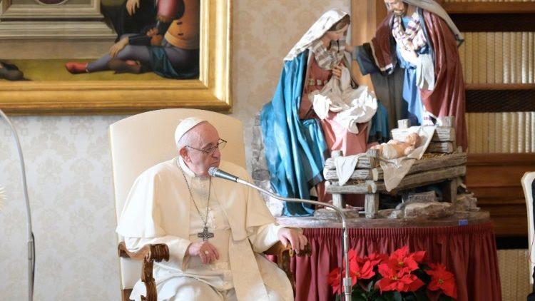 Papa Francisco durante su Audiencia General del 23 de diciembre de 2020.