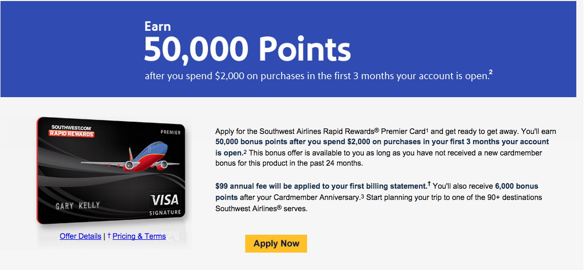 50,000 Points for All Southwest Airlines Credit Cards!!! - Deals We Like
