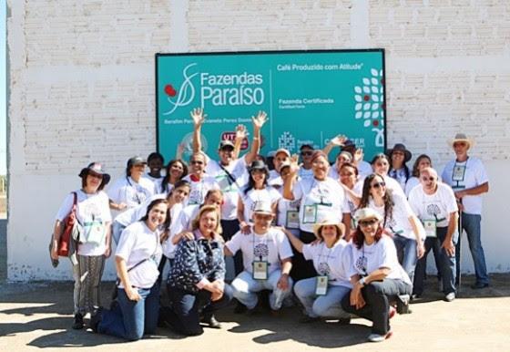 Encerramento da visita à Fazenda Paraiso conduzida pela Sra. Evanete Peres e Flanar Turismo