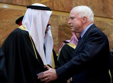 John McCain and Saudi King Salman