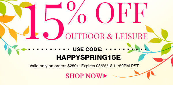 15% Off Outdoor & Leisure