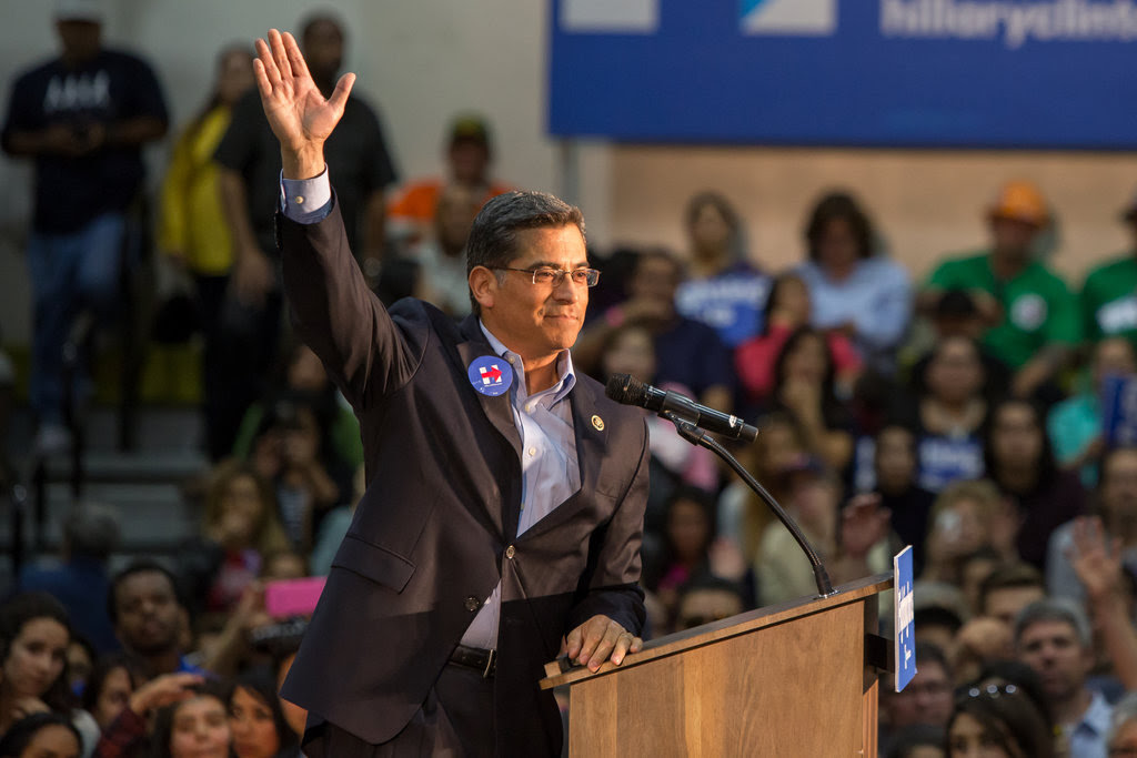 Representative Xavier Becerra of California at an event for Hillary Clinton in Monterey Park in May.