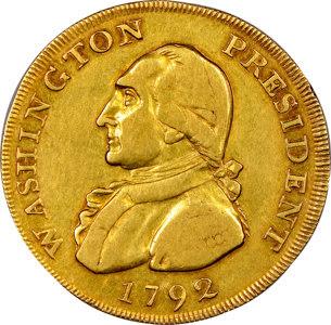 1792 '$10' Washington Gold Eagle Pattern, Musante GW-31 (A), Unique, XF45 ★ NGC