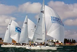 J/105 sailing on San Diego Bay