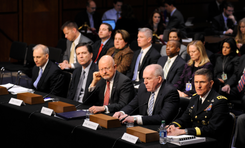 Flynn at hearings with others