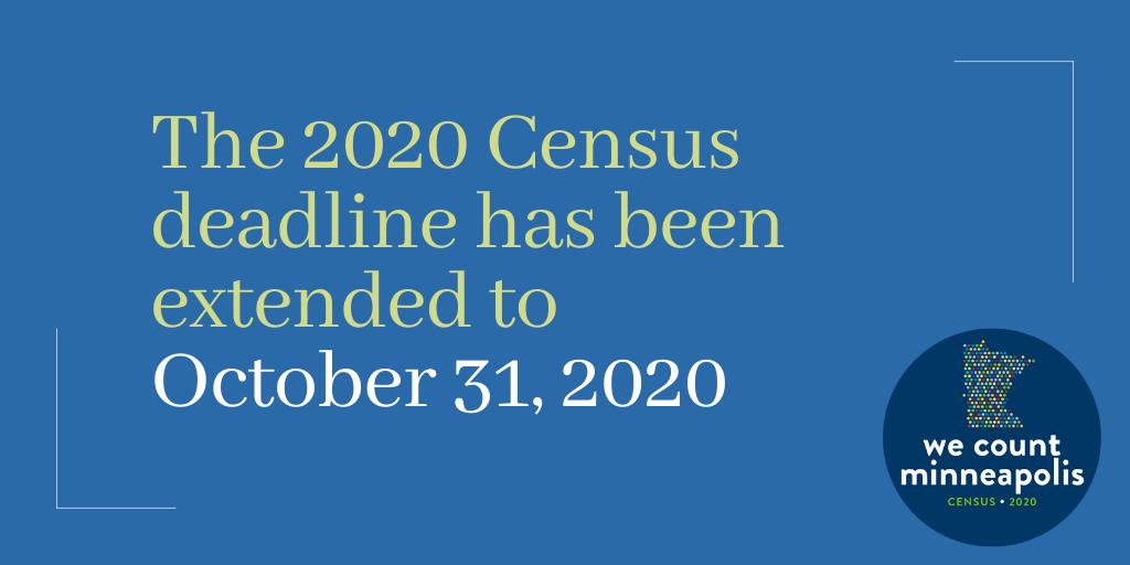 Census deadline extension graphic
