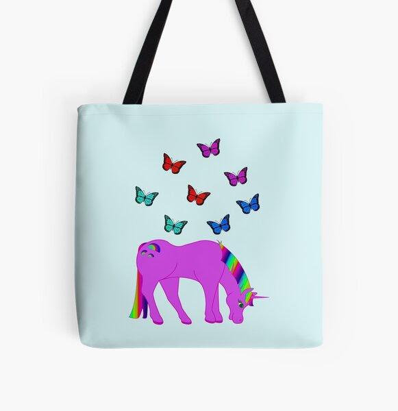 Purple Unicorn, Rainbow Hair and Butterflies, RBSSP