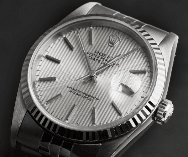 Datejust with baton hour marker type