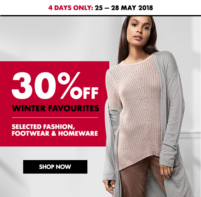 30% off winter favourites