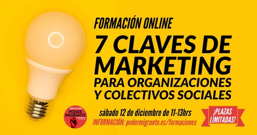 FORMACIÓN ONLINE: 7 Claves de marketing para organizaciones y colectivos sociales