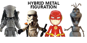 HYBRID METAL FIGURATIONS: THE FLASH, OLAF, SANDTROOPER, SCAR PREDATOR