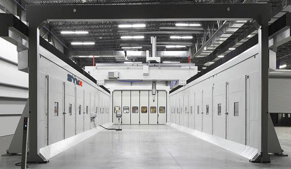 Symmetrix 5-axis CNC cutting room