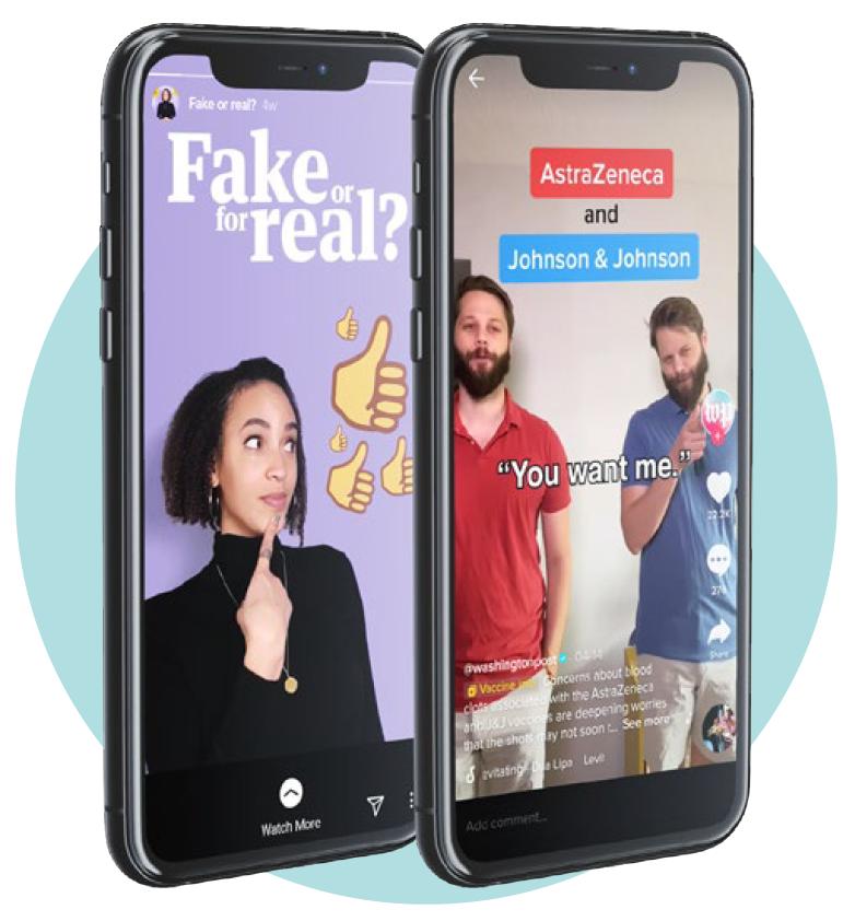 Segmento de The Guardian 'Fake or For Real' en Instagram / Dave Jorgenson en un video de TikTok
