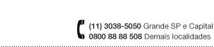 Televendas: 0800-88-88-508 / 11 3038 5050