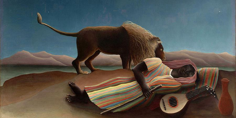 Image credit: The Sleeping Gypsy (detail), by Henri Rousseau, 1897, Museum of Modern Art, New York, NY.