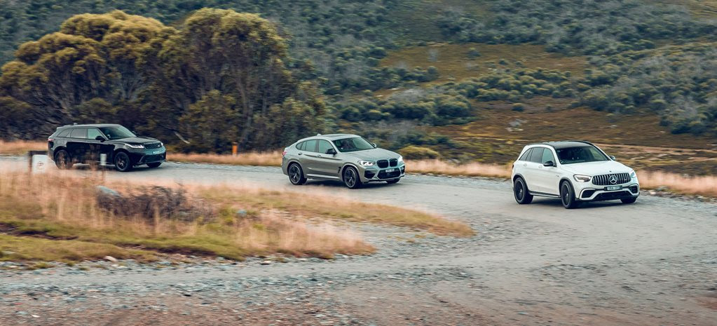 Mercedes-AMG GLC 63 S v BMW X4 M Competition v Range Rover Velar SVAutobiography comparison test