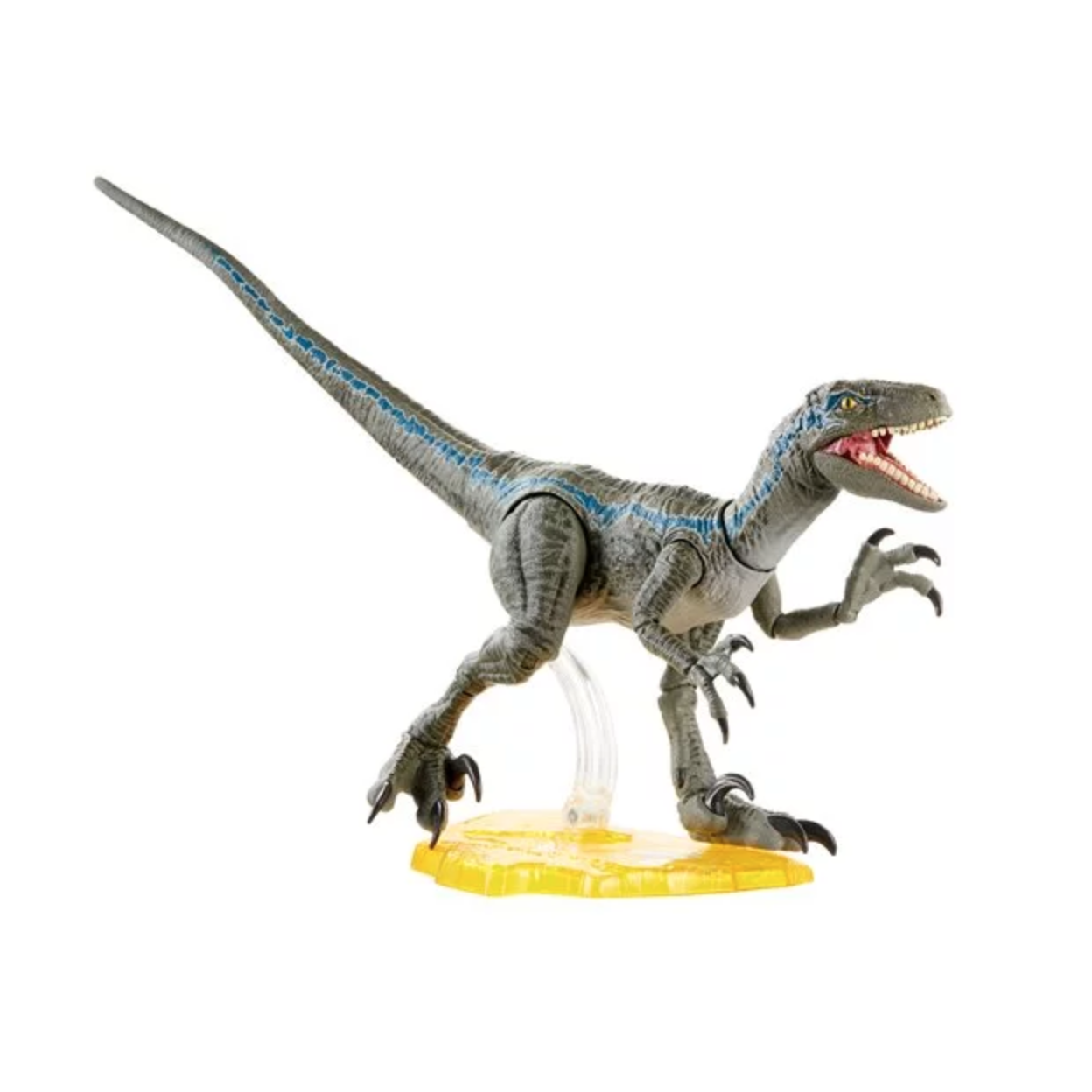 Image of Jurassic World Amber Collection Velociraptor Blue Action Figure