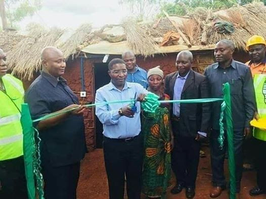 Photos: Kenyan Politician Commissions 'Mud House' He Built For A Widow