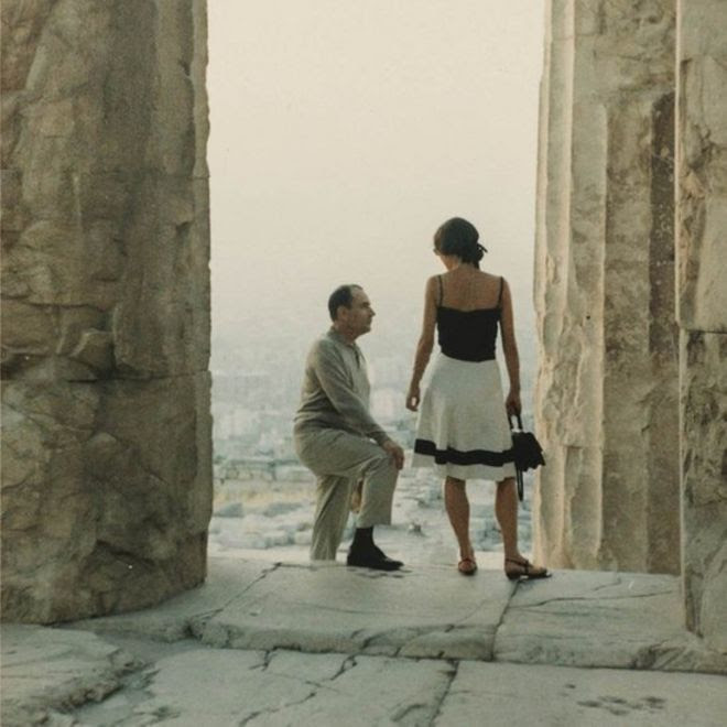 Francois Mitterrand with Anne Pingeot at the Acropolis in Athens in the 1970s