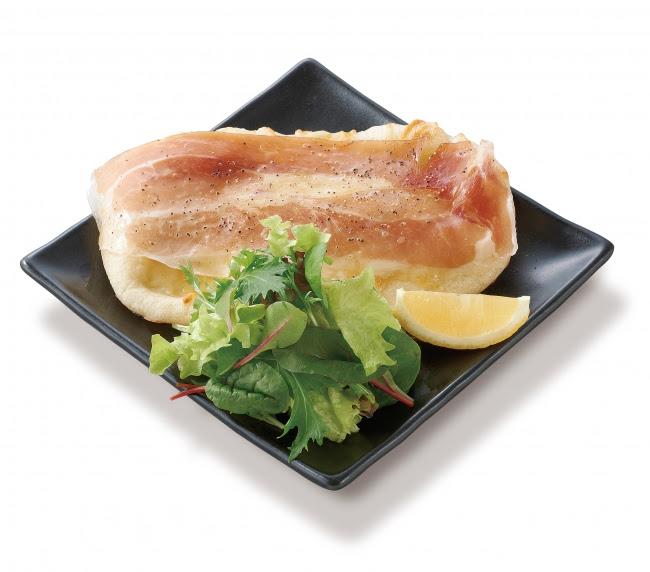 100%オーガニック野菜新メニュー第1弾「有機ベビーリーフと生ハムのサラダピザ」