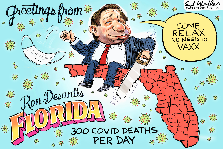 DeSantis lives in Florida by ignoring COVID