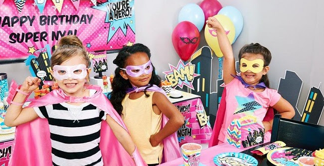 girl superhero party supplies at birthday express