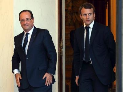 Hollande y Macron en el Palacio del Elíseo, el pasado mes de octubre. REUTERS/Philippe Wojazer