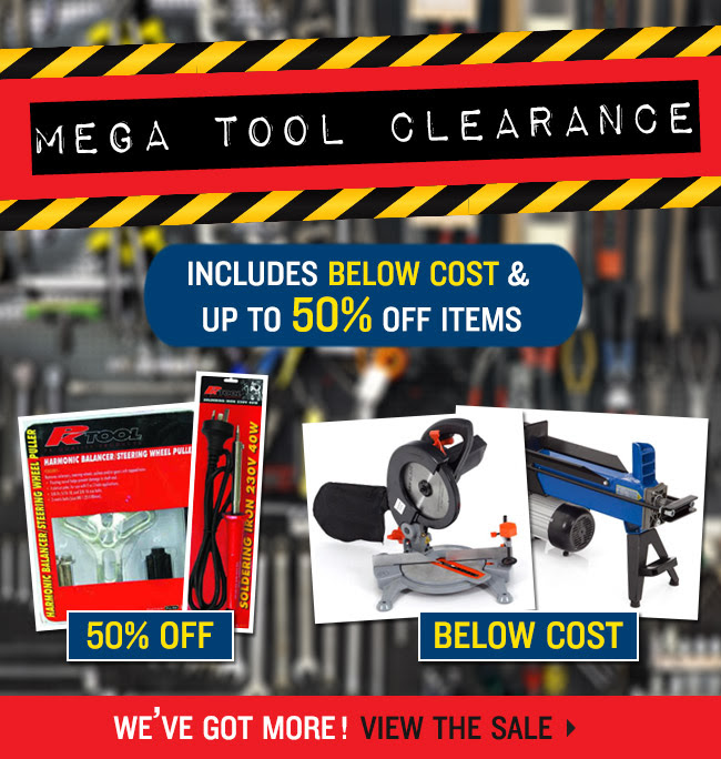 Mega tool clearance up to 50% off items at DealsDirect.com.au