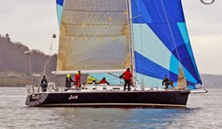 J/160 JAM sailing Vashon Island race off Seattle, WA