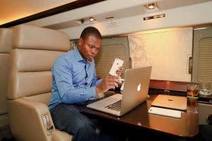 Major 1 in his private jet