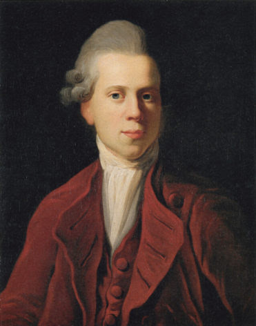 Historical Records: A painting of Nicolai Abildgaard from 1772, by the artist Jens Juel
