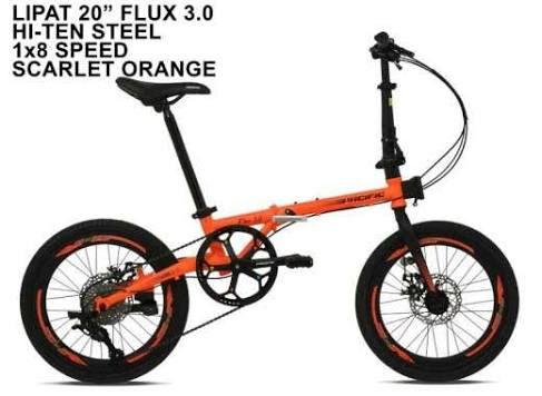 Pacific Flux 3.0 Sepeda Lipat [20 Inchi/8 Speed]