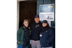 (L-R): Angie Moore, Bill Reightler, and Sabrina Moore at the Keeneland November Sale