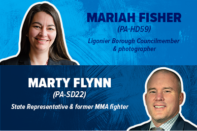 Help Mariah Fisher (PA-HD59) and Marty Flynn (PA-SD22) win!