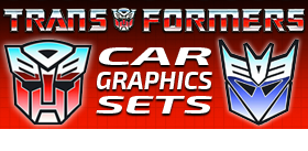 TRANSFORMERS AND DC COMICS CAR GRAPHICS