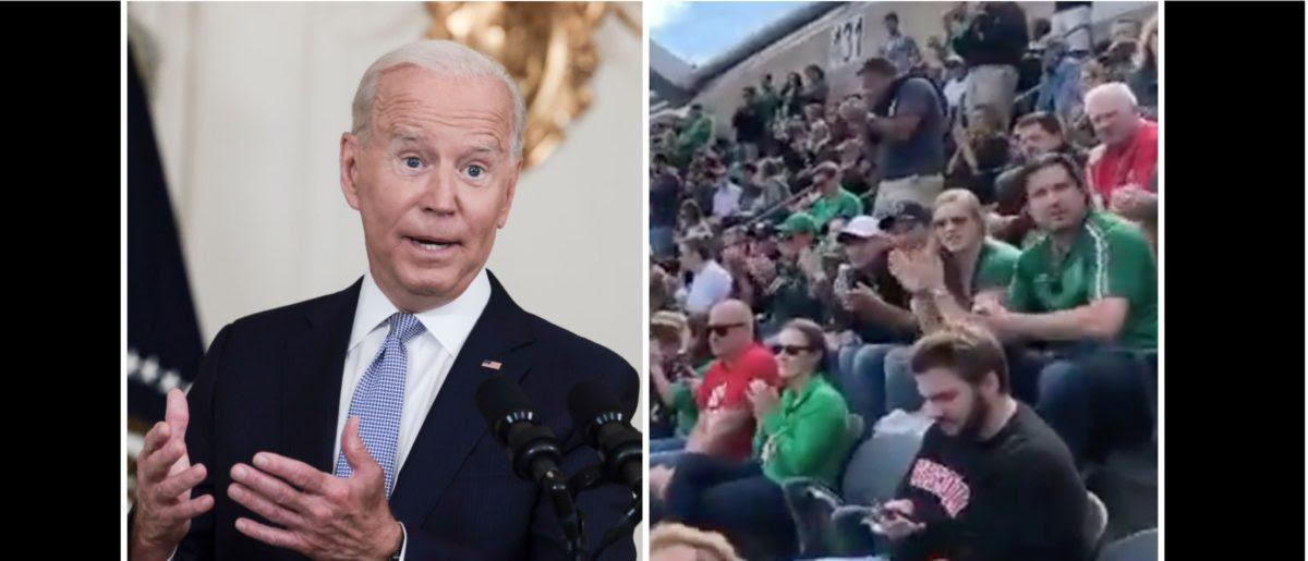 Fans Chant 'F**k Joe Biden' During The Wisconsin/Notre Dame Game