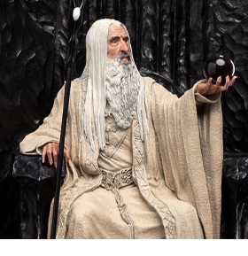 The Lord of the Rings Saruman The White on Throne 1/6 Scale Limited Edition Statue