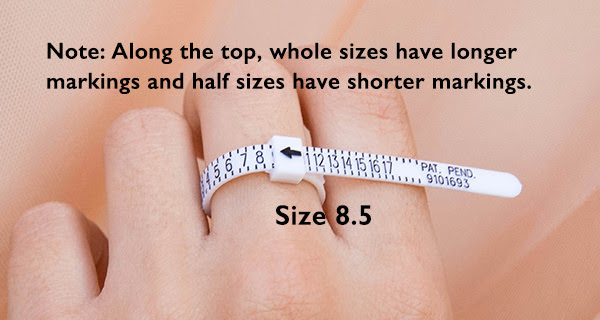 ring sizer tool measure finger