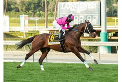 Anothertwistafate wins the San Gabriel Stakes at Santa Anita Park