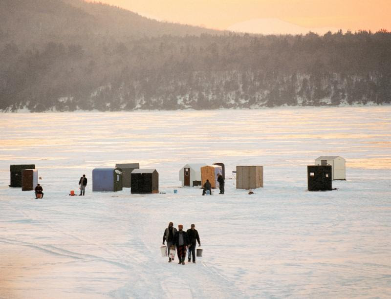 ice fishing is a great winter pastime