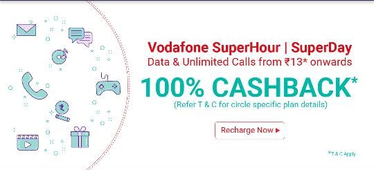 (Loot) PhonePe Vodafone Loot-Upto Rs.50 Free Recharge(100% Cashback)