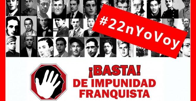 Cartel que convoca a la manifestación contra la impunidad del franquismo