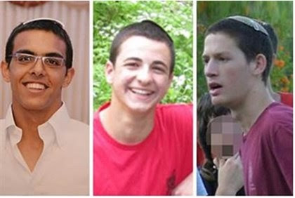 Murdered (L to R): Eyal Yifrah, Gilad Sha'ar, Naftali Frenkel