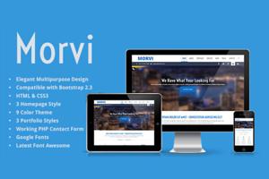 Morvi - Bootstrap HTML5 Portfolio