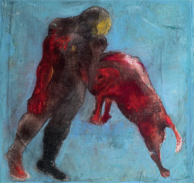 <i>Combat by Sadikou Oukpedjo, </i><em><br>presented by </em><i>Galerie Cécile Fakhoury<br><br></i>