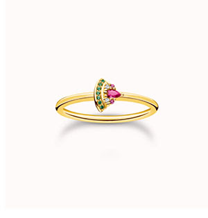 Ring watermelon gold