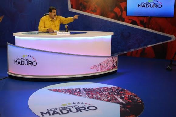 Nicolás Maduro en su programa de tv 5 de mayo de 2015